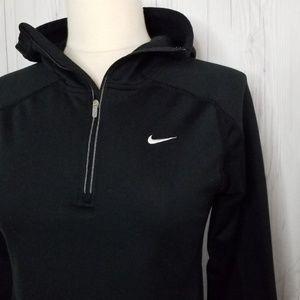 NikeFIT Dry • Black 1/4-Zip Pullover Hoodie • SZ S